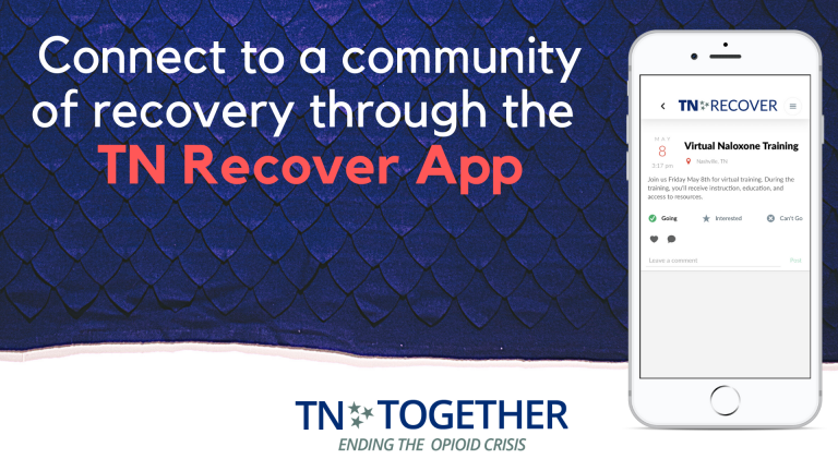 Connect to a community of recovery through the TN Recover App